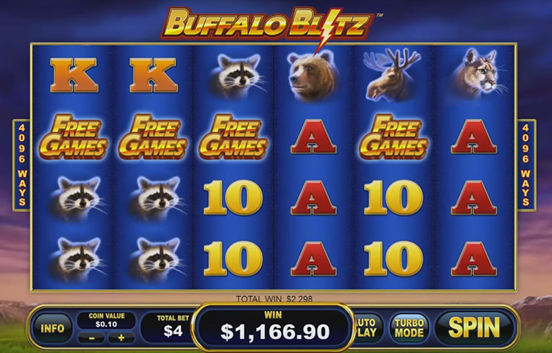 онлайн-слот Playtech - Buffalo Blitz, скриншот 3