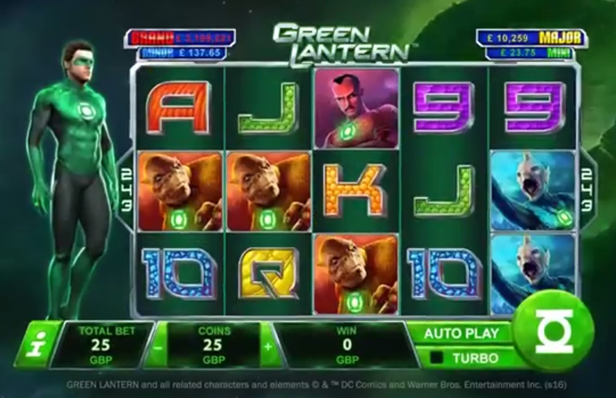 Playtech - Green Lantern, скриншот 1
